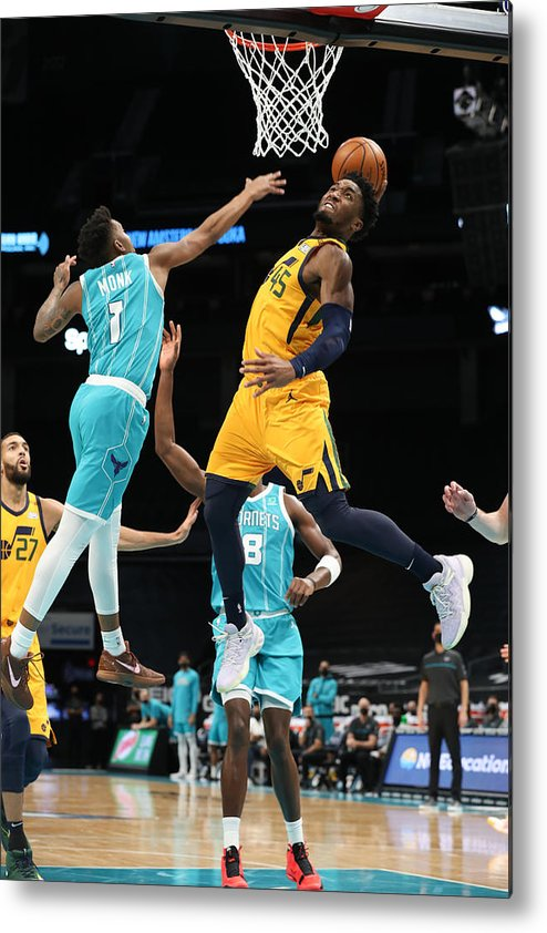 Nba Pro Basketball Metal Print featuring the photograph Donovan Mitchell by Brock Williams-Smith