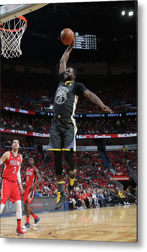 Smoothie King Center Metal Print featuring the photograph Draymond Green by Layne Murdoch