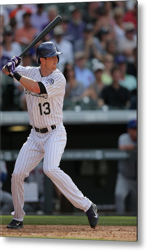 National League Baseball Metal Print featuring the photograph Drew Stubbs by Doug Pensinger