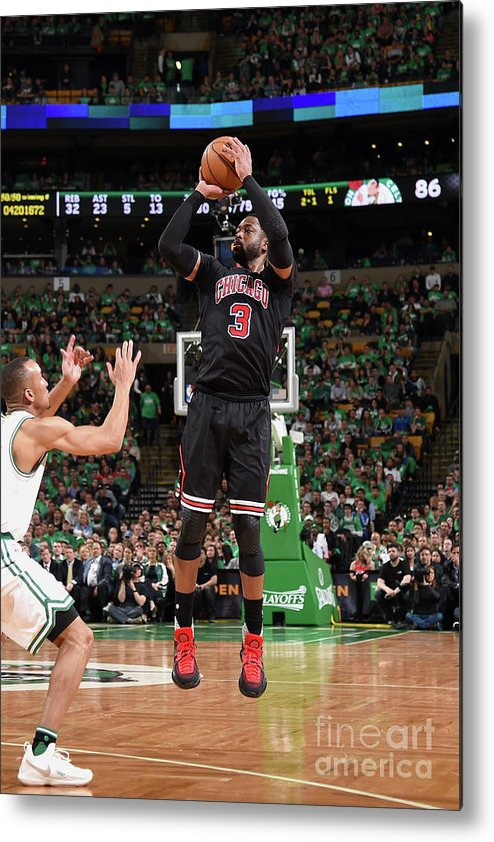 Playoffs Metal Print featuring the photograph Dwyane Wade by Brian Babineau