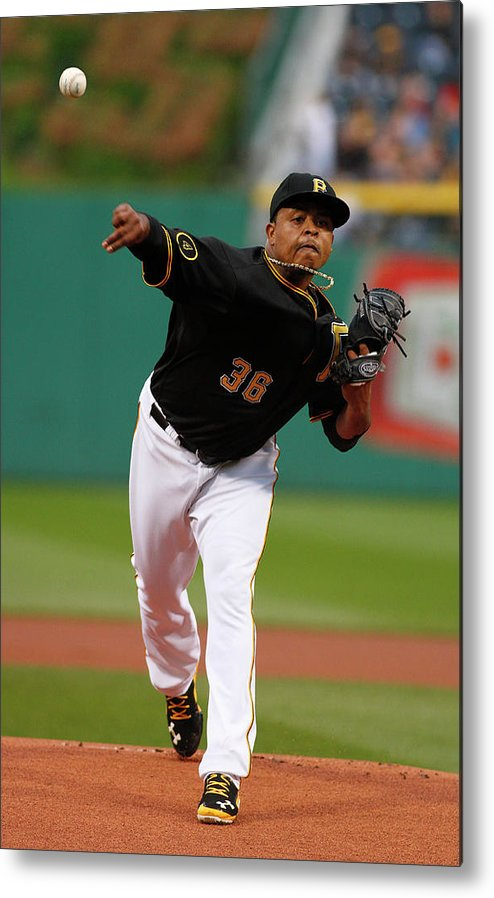 Professional Sport Metal Print featuring the photograph Edinson Volquez by Justin K. Aller