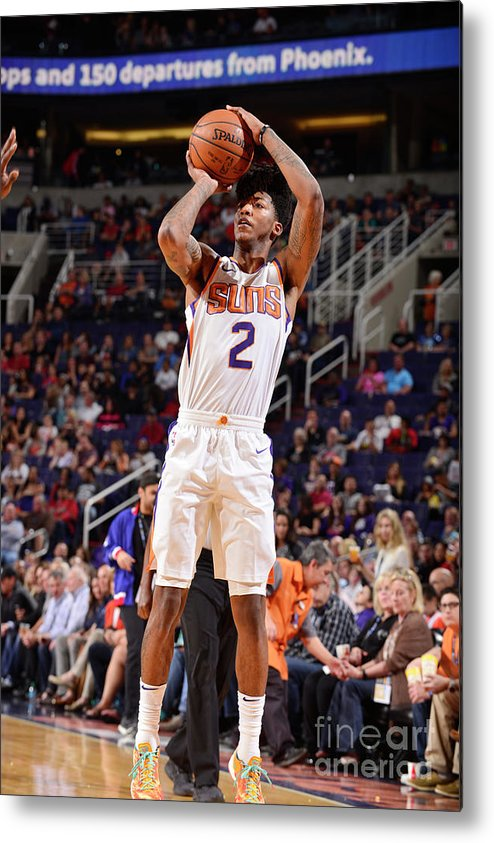Sports Ball Metal Print featuring the photograph Elfrid Payton by Barry Gossage