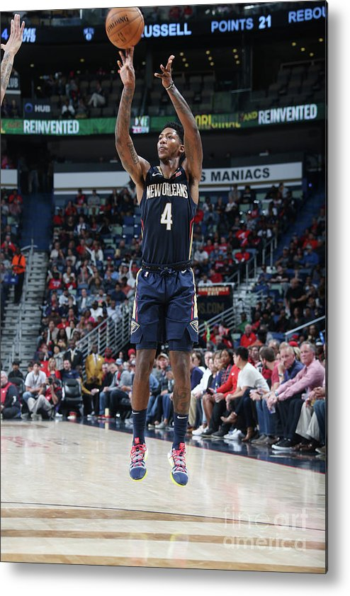 Smoothie King Center Metal Print featuring the photograph Elfrid Payton by Layne Murdoch