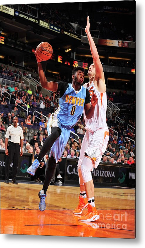 Nba Pro Basketball Metal Print featuring the photograph Emmanuel Mudiay by Barry Gossage