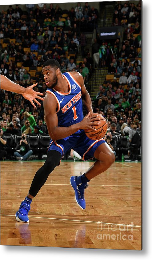 Nba Pro Basketball Metal Print featuring the photograph Emmanuel Mudiay by Brian Babineau
