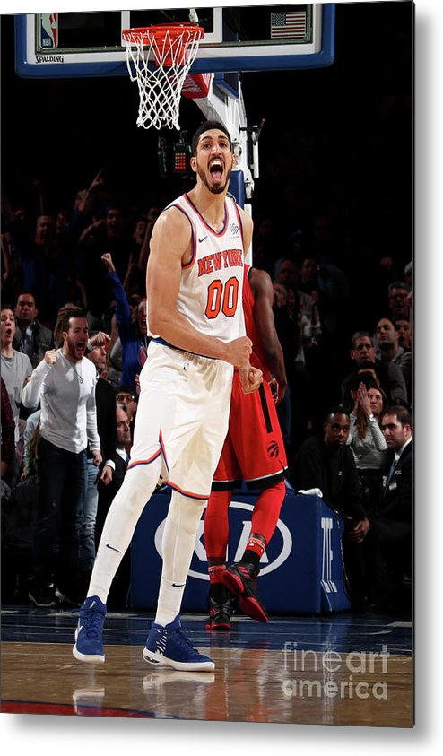 Nba Pro Basketball Metal Print featuring the photograph Enes Kanter by Nathaniel S. Butler