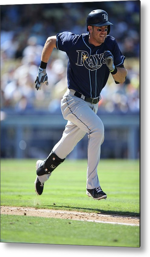 American League Baseball Metal Print featuring the photograph Evan Longoria by Paul Spinelli