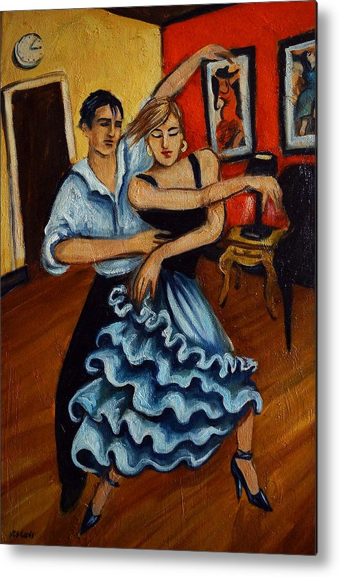 Dancers Metal Print featuring the painting Flamenco by Valerie Vescovi