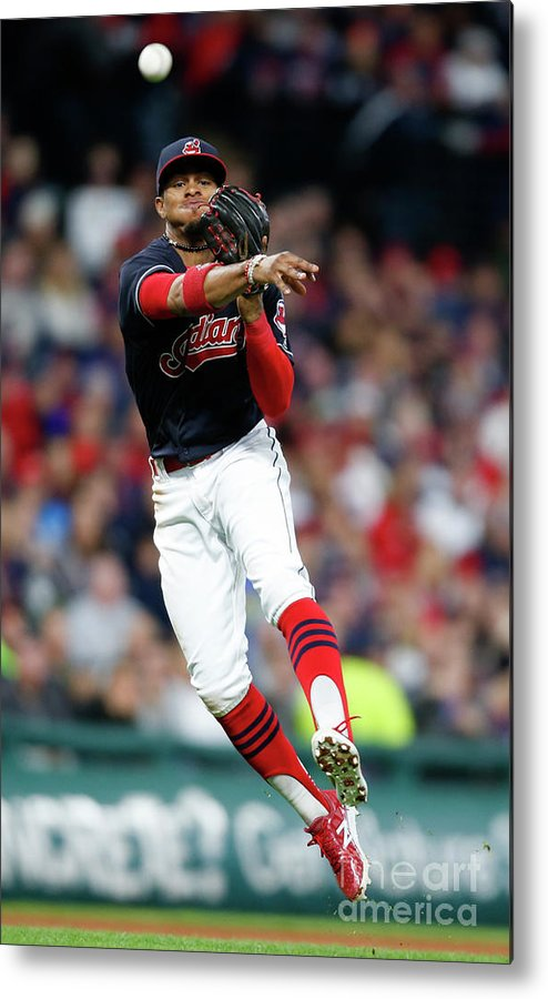 People Metal Print featuring the photograph Francisco Lindor by Ron Schwane