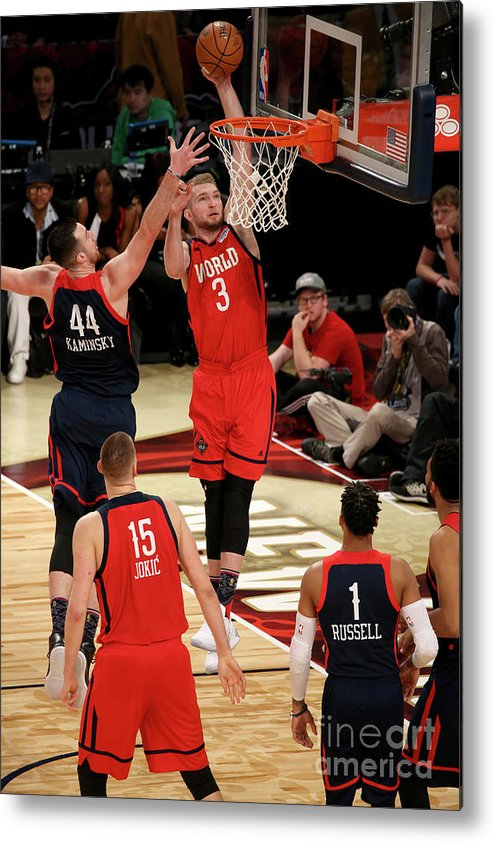 Smoothie King Center Metal Print featuring the photograph Frank Kaminsky and Domantas Sabonis by Gary Dineen