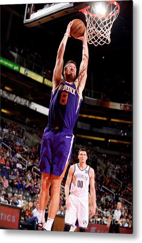 Nba Pro Basketball Metal Print featuring the photograph Frank Kaminsky by Barry Gossage