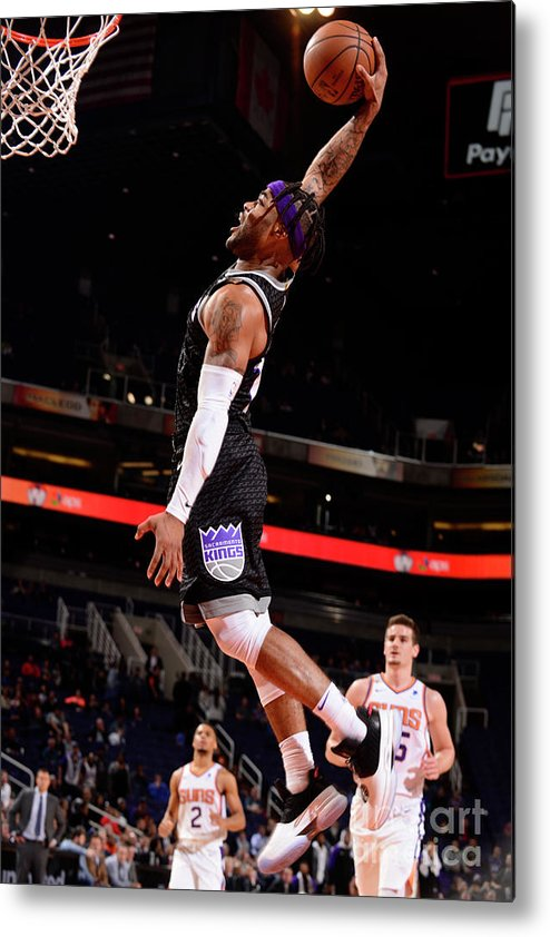 Nba Pro Basketball Metal Print featuring the photograph Frank Mason by Barry Gossage
