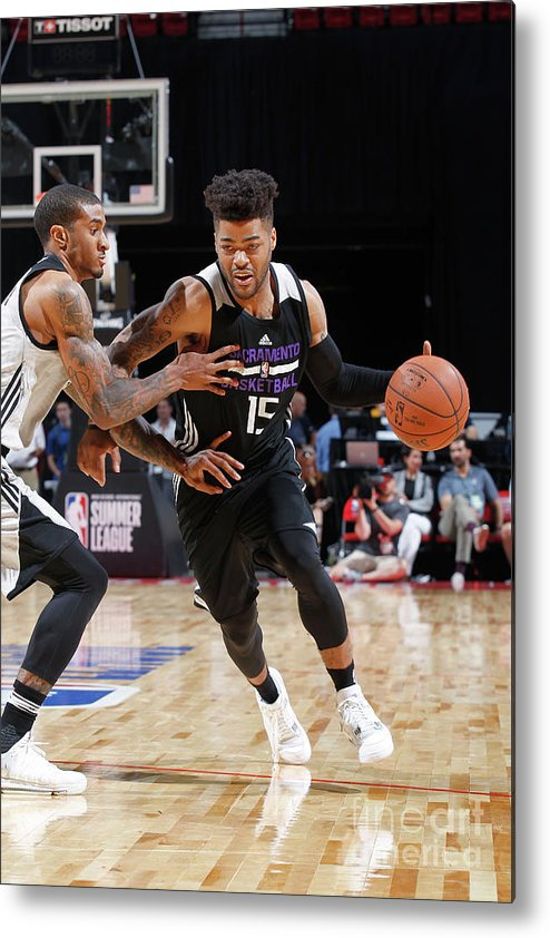 Nba Pro Basketball Metal Print featuring the photograph Frank Mason by Jack Arent