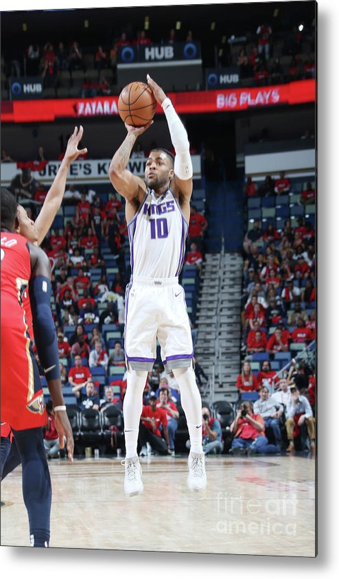 Smoothie King Center Metal Print featuring the photograph Frank Mason by Layne Murdoch Jr.