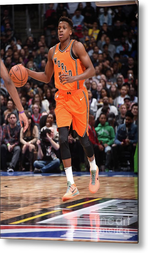 Event Metal Print featuring the photograph Frank Ntilikina by Andrew D. Bernstein