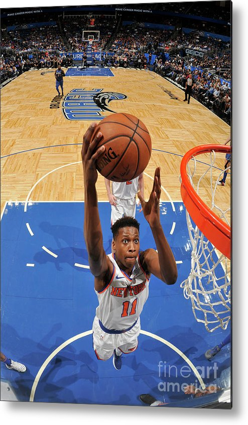 Nba Pro Basketball Metal Print featuring the photograph Frank Ntilikina by Fernando Medina