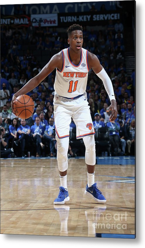 Nba Pro Basketball Metal Print featuring the photograph Frank Ntilikina by Layne Murdoch