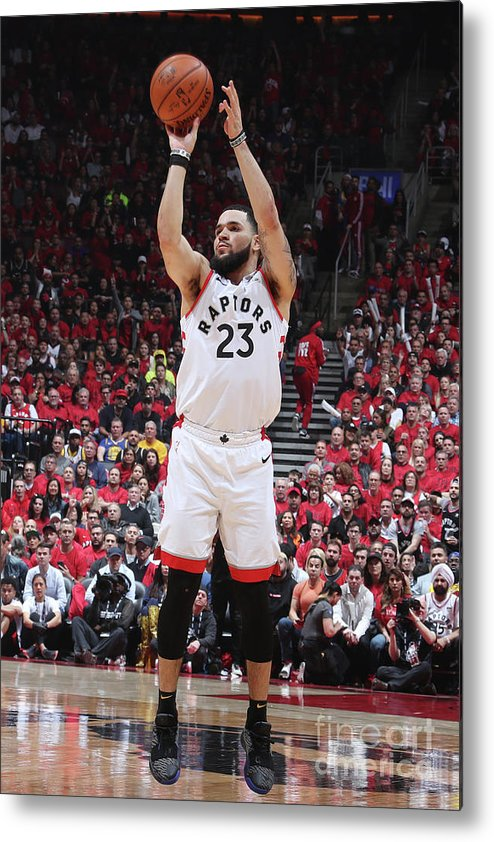 Playoffs Metal Print featuring the photograph Fred Vanvleet by Nathaniel S. Butler