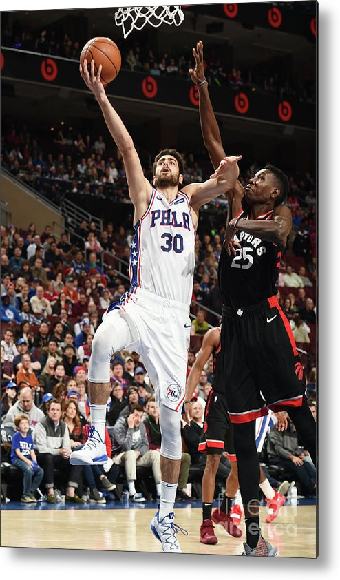 Nba Pro Basketball Metal Print featuring the photograph Furkan Korkmaz by David Dow