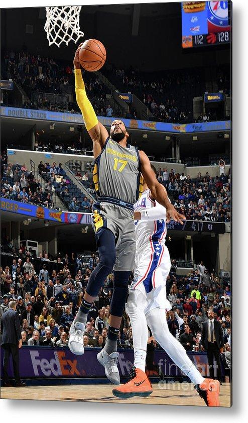 Nba Pro Basketball Metal Print featuring the photograph Garrett Temple by Jesse D. Garrabrant