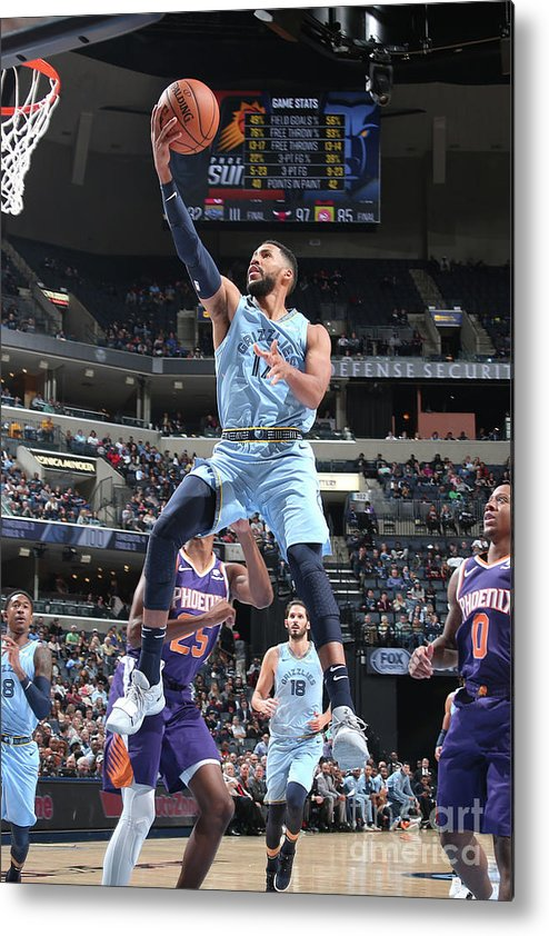 Nba Pro Basketball Metal Print featuring the photograph Garrett Temple by Ned Dishman
