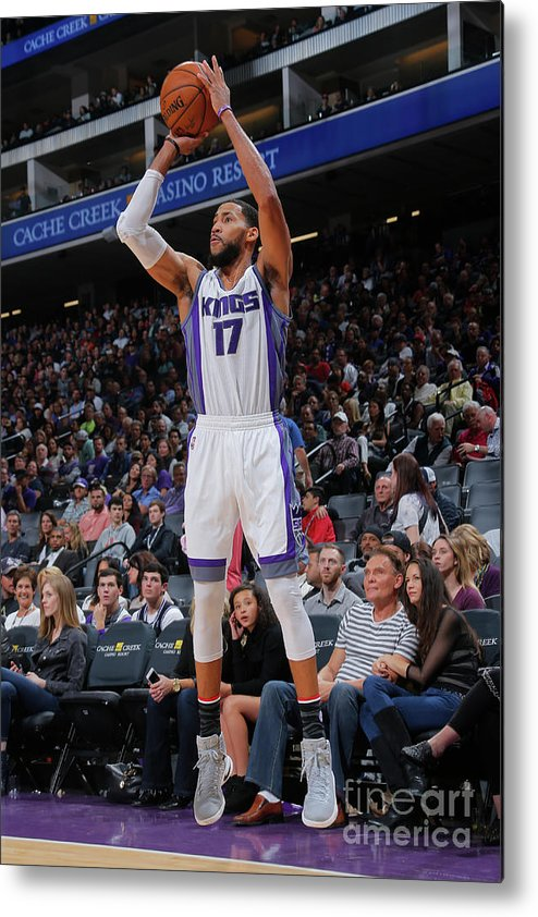 Nba Pro Basketball Metal Print featuring the photograph Garrett Temple by Rocky Widner