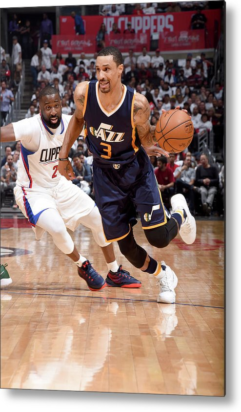 Playoffs Metal Print featuring the photograph George Hill by Andrew D. Bernstein