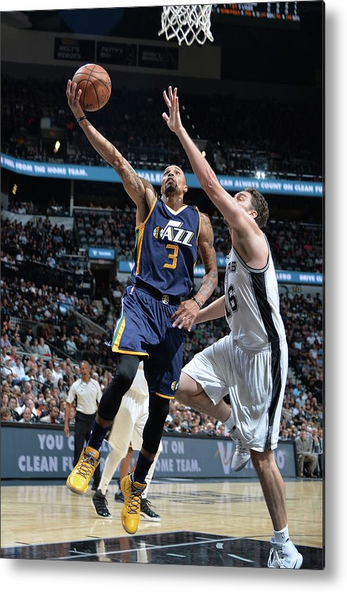 Nba Pro Basketball Metal Print featuring the photograph George Hill by Mark Sobhani