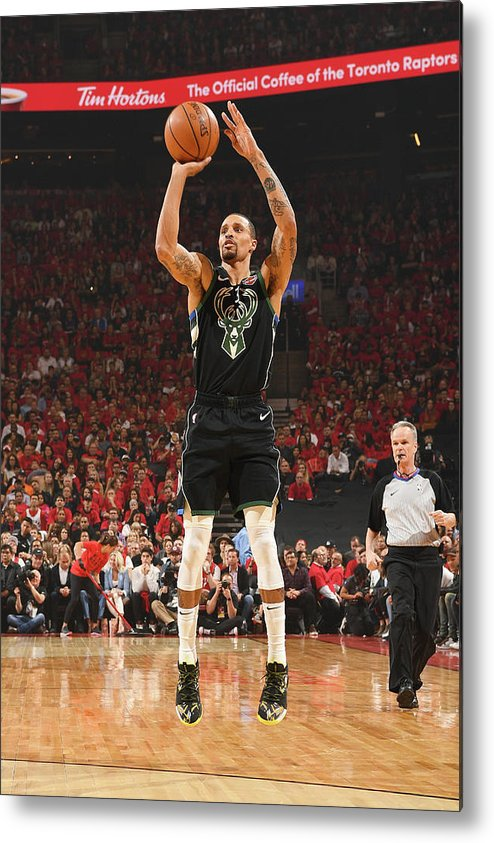Nba Pro Basketball Metal Print featuring the photograph George Hill by Ron Turenne