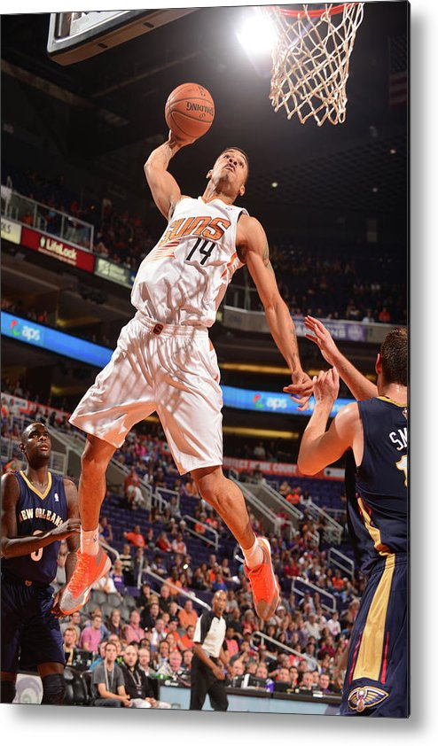Nba Pro Basketball Metal Print featuring the photograph Gerald Green by Barry Gossage