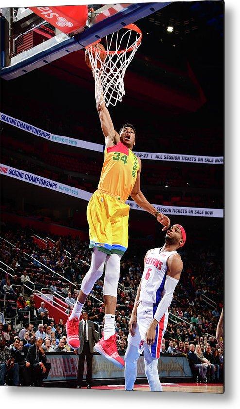 Nba Pro Basketball Metal Print featuring the photograph Giannis Antetokounmpo by Chris Schwegler