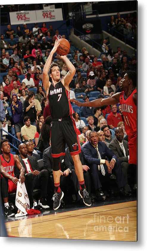 Smoothie King Center Metal Print featuring the photograph Goran Dragic by Layne Murdoch