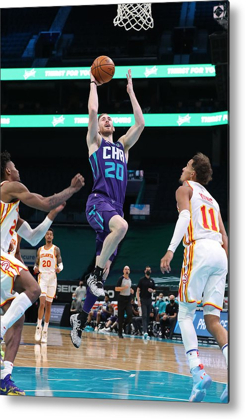 Nba Pro Basketball Metal Print featuring the photograph Gordon Hayward by Brock Williams-Smith