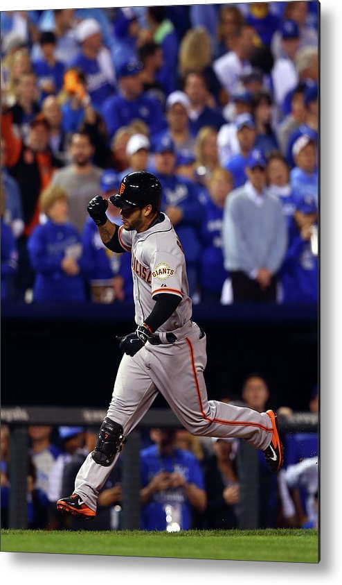 Game Two Metal Print featuring the photograph Gregor Blanco by Elsa