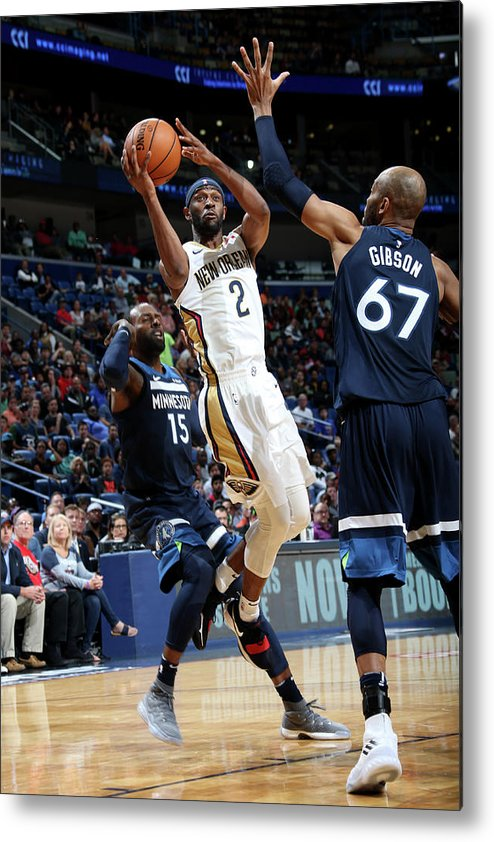 Smoothie King Center Metal Print featuring the photograph Ian Clark by Layne Murdoch
