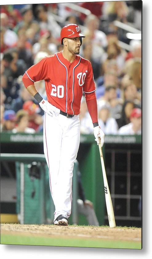 Looking Metal Print featuring the photograph Ian Desmond by Mitchell Layton