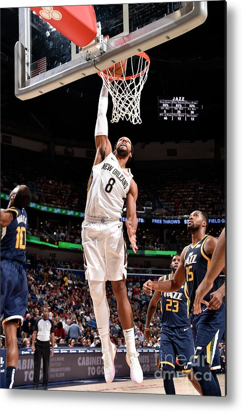 Smoothie King Center Metal Print featuring the photograph Jahlil Okafor by Bill Baptist