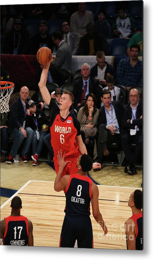 Smoothie King Center Metal Print featuring the photograph Jahlil Okafor by Gary Dineen