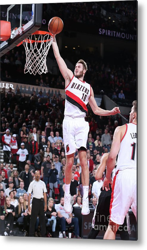 Nba Pro Basketball Metal Print featuring the photograph Jake Layman by Sam Forencich