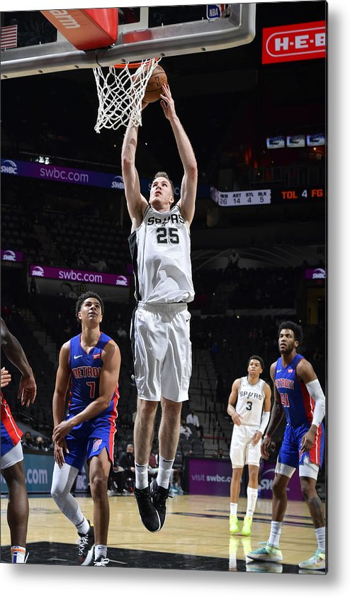 Nba Pro Basketball Metal Print featuring the photograph Jakob Poeltl by Logan Riely