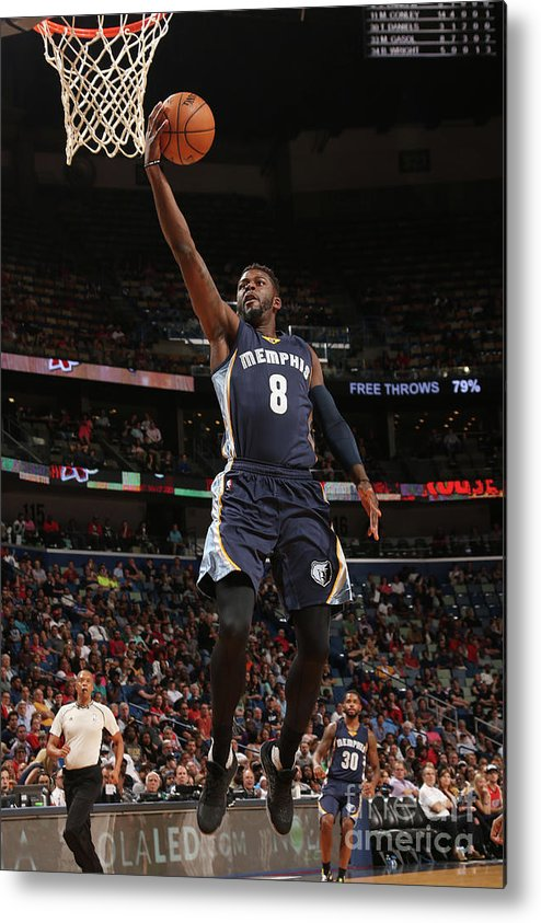 Smoothie King Center Metal Print featuring the photograph James Ennis by Layne Murdoch