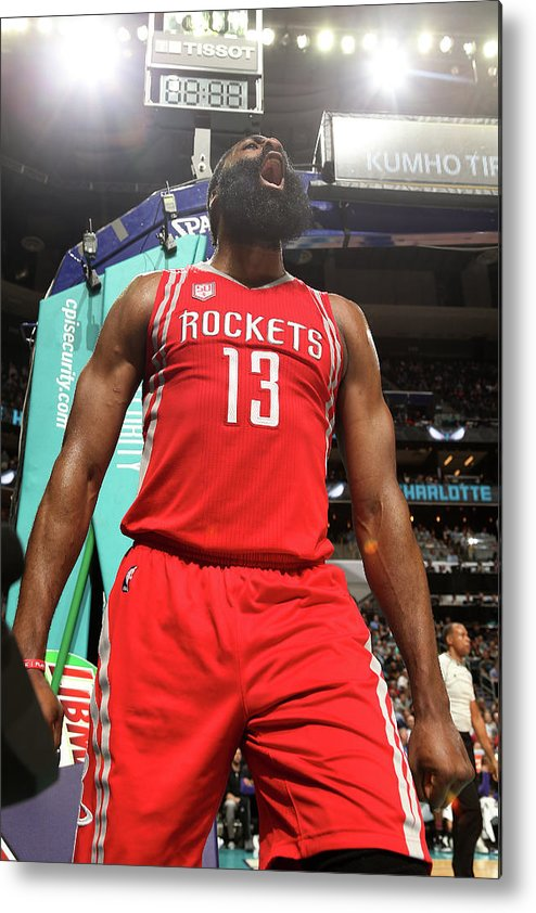 Nba Pro Basketball Metal Print featuring the photograph James Harden by Kent Smith