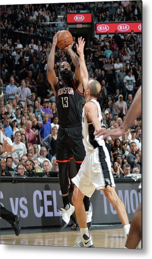 Nba Pro Basketball Metal Print featuring the photograph James Harden by Mark Sobhani