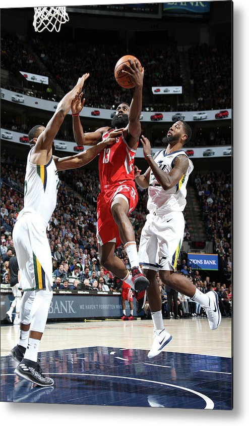 Nba Pro Basketball Metal Print featuring the photograph James Harden by Melissa Majchrzak