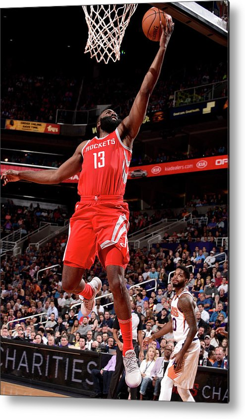 Nba Pro Basketball Metal Print featuring the photograph James Harden by Michael Gonzales