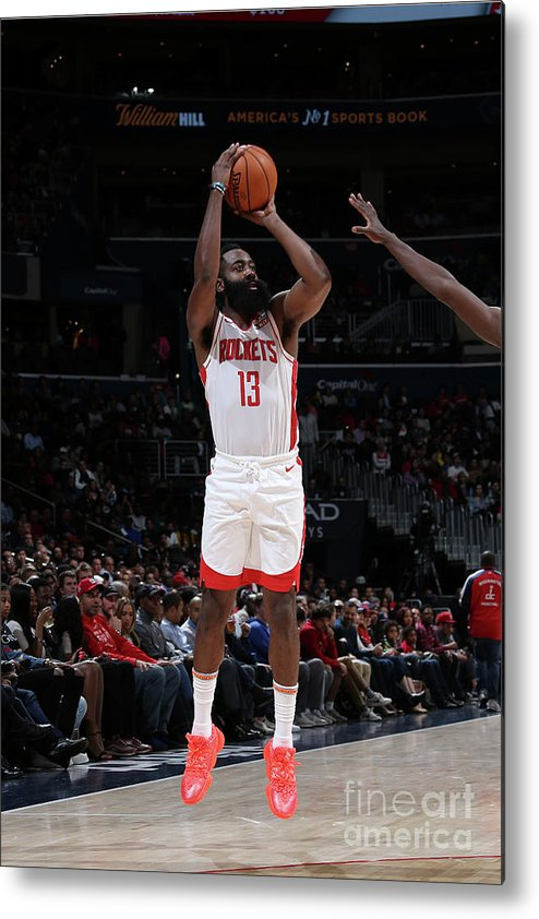 Nba Pro Basketball Metal Print featuring the photograph James Harden by Stephen Gosling