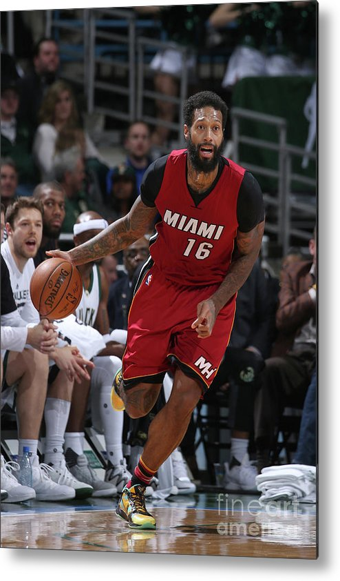 Nba Pro Basketball Metal Print featuring the photograph James Johnson by Gary Dineen