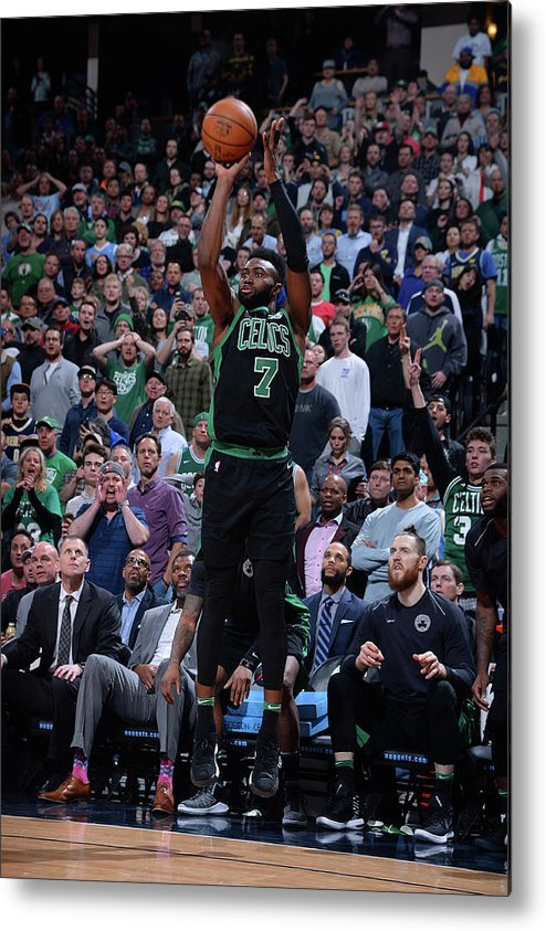 Nba Pro Basketball Metal Print featuring the photograph Jaylen Brown by Bart Young