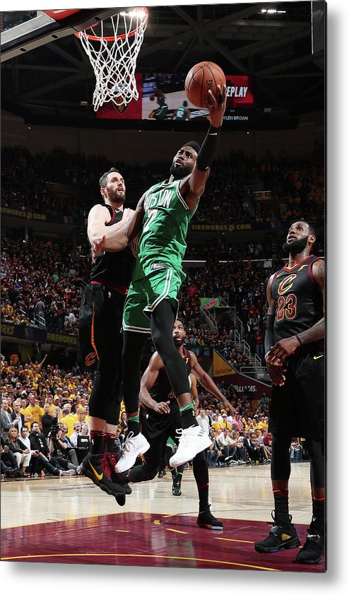 Playoffs Metal Print featuring the photograph Jaylen Brown by Nathaniel S. Butler