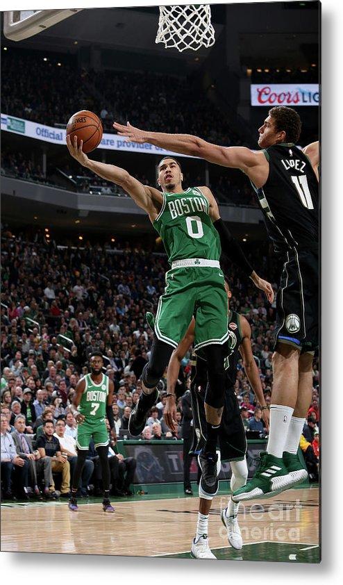 Nba Pro Basketball Metal Print featuring the photograph Jayson Tatum by Gary Dineen